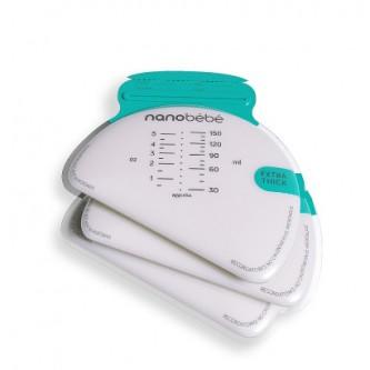Nanobebe Torebki do przechowywania mleka matki  pokarmu - 50 szt.