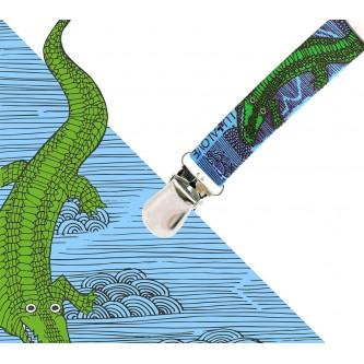 Lullalove Wielofunkcyjna Zawieszka ToGo do Smoczka Krokodyl
