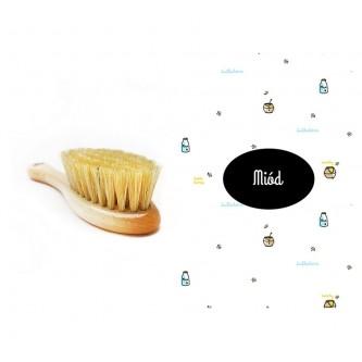 Lullalove Szczotka na ciemieniuchę z myjką Miód