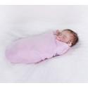 Lullalove Bambusowy Otulacz Newborn Różowy