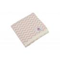 Le Pampuch Kocyk Bawełniany Zygzag 80x100 Różowy