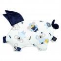 La Millou VELVET Sleepy Pig Poduszeczka Hello World Navy