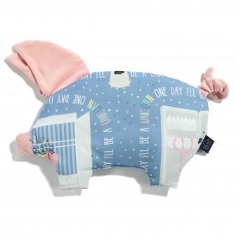 La Millou VELVET Sleepy Pig Poduszeczka Doggy Unicorn Story Powder Pink
