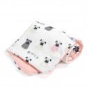 La Millou VELVET Kocyk Średniaka Slim Doggy Unicorn Powder Pink