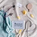 """ColorStories Ręcznik z Kapturkiem """"M"""" 90x90 Milky Way Blue"""