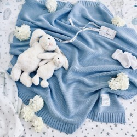 "ColorStories Ręcznik z Kapturkiem ""M"" 90x90 Niebieski Milky Way"