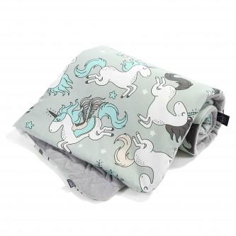 La Millou VELVET Kocyk Średniaka Unicorn Dark Grey by Maja Bohosiewicz