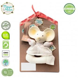 Meiya & Alvin Organiczny Gryzak z Grzechotką Meiya Mouse