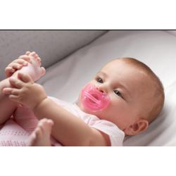 Chicco Smoczek Physio Soft Silikonowy Niebieski 6-12 miesięcy