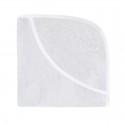 Effiki Ręcznik z Kapturkiem 95x95 Owieczka Biały z Białą Lamówką