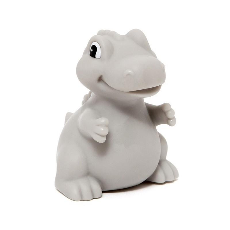Petit Monkey Miękka Lampka Nocna LED T-rex Szary