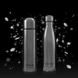 Miniland Termos dla Dziecka + Butelka dla Rodzica Deluxe 500 ml Srebrne