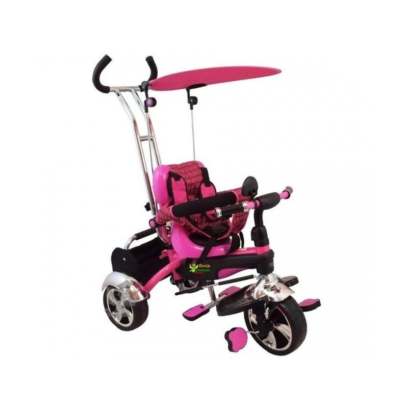 Baby Mix Rowerek 3w1 S-DY Różowy