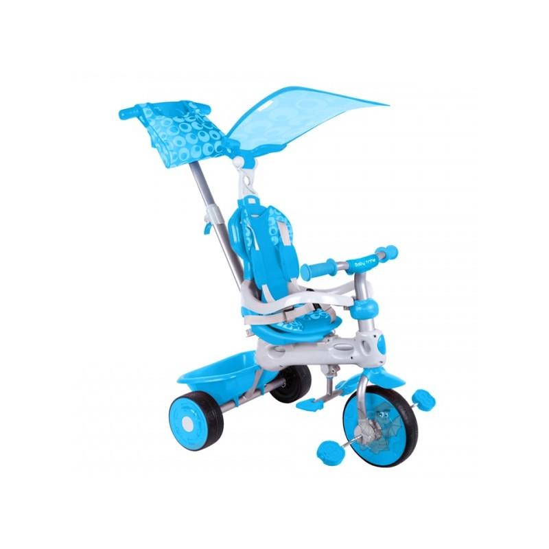Baby Trike New Rowerek 4w1 Niebieski