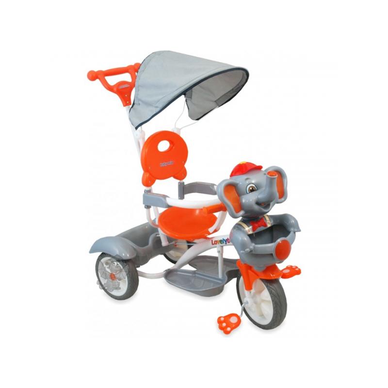 Baby Mix 3w1 Rowerek Trójkołowy Słoń Srebrny