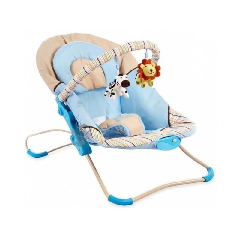 Baby Mix Leżaczek + Efekty Niebieski