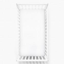 Lullalove 140x70 cm Bawełniane Prześcieradło Białe
