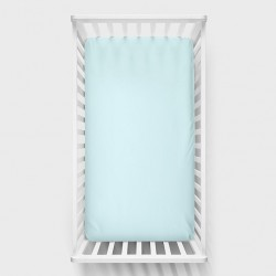 Lullalove 140x70 cm Bawełniane Prześcieradło Niebieskie