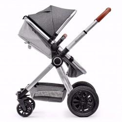 Kinderkraft Veo Wózek 3w1 + Fotelik 0-13 kg Gray