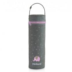 Miniland Termoopakowanie na Termos/Butelkę 500 ml Szary/Różowy