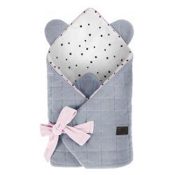 Sleepee Rożek Niemowlęcy Royal Baby Grey/Pink