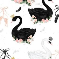 La Millou VELVET PREMIUM Mufka Moonlight Swan Powder Pink