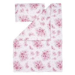 Qbana Mama Pościel Bambusowa z Wypełnieniem 75x65 In Blossom
