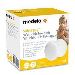 Medela Wkładki Laktacyjne Wielokrotnego Użytku Safe & Dry™ (4...