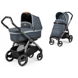 Peg Perego Book S Pop Up Wózek Głęboko Spacerowy Denim Blue