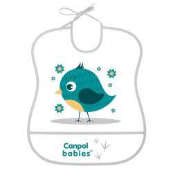 Canpol Babies Śliniak Zmywalny Miękki Cute Animals Ptaszek