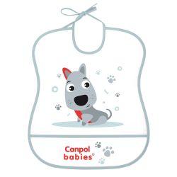 Canpol Babies Śliniak Zmywalny Miękki Cute Animals Piesek