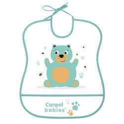 Canpol Babies Śliniak Zmywalny Miękki Cute Animals Miś