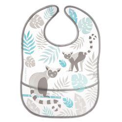 Canpol Babies Śliniak Zmywalny z Kieszenią Jungle Szary