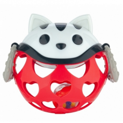 Canpol Babies Interaktywna Zabawka z Grzechotką Kot Czerwona