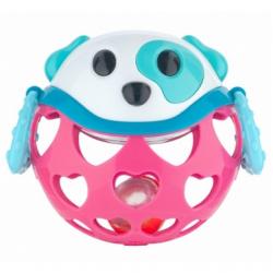 Canpol Babies Interaktywna Zabawka z Grzechotką Pies Różowa
