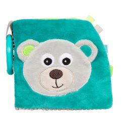Canpol Babies Pluszowa Książeczka Edukacyjna Bears Szara