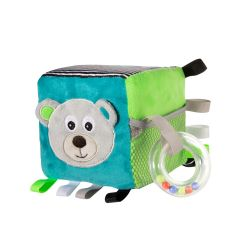 Canpol Babies Pluszowa Kostka Sensoryczna Bears Szara