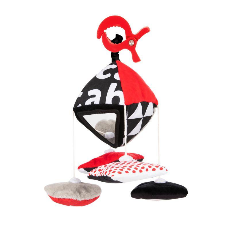 Canpol Babies Kontrastowa Karuzelka Podróżna do Wózka Fotelika Sensory Toys