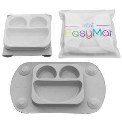EasyTots EasyMat 2w1 Silikonowy Talerzyk z Podkładką Lunchbox...