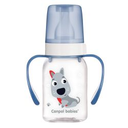 Canpol Babies Butelka Wąska z Uchwytem 120 ml Cute Animals...