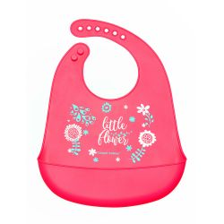 Canpol Babies Śliniak Silikonowy z Kieszenią Wild Nature Różowy