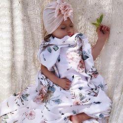 Qbana Mama Bambusowa Poduszeczka Miś 25x30 Vintage Flowers