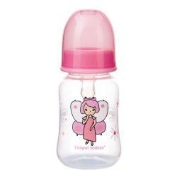 Canpol Babies Butelka Wąska 120 ml Różowa Księżniczka