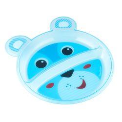 Canpol Babies Talerz z Podziałką Happy Faces Niebieski