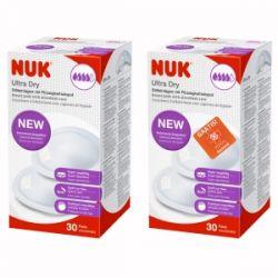 Nuk Wkładki Laktacyjne Ultra Dry (2x 30 sztuk)