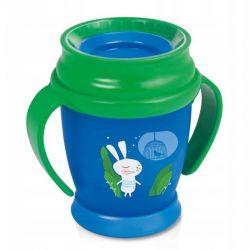 Lovi Kubek 360 9m+ (210 ml) Follow the Rabbit Green