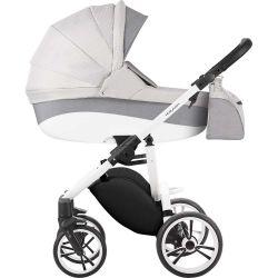 Bebetto Holland Wózek Głęboko Spacerowy W33 Biały Stelaż