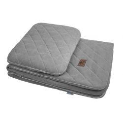 Sleepee Kocyk Welurowy 80x100 z Poduszką Royal Baby Grey