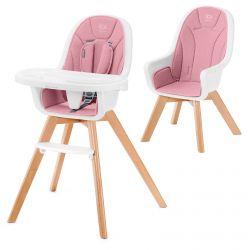 Kinderkraft Tixi 2w1 Krzesełko do Karmienia Pink