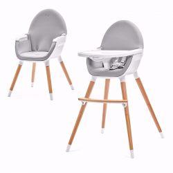 Kinderkraft Fini 2w1 Krzesełko do Karmienia Gray